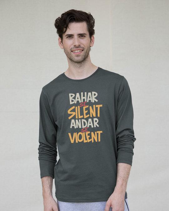 Shop Violent Full Sleeve T-Shirt-Front