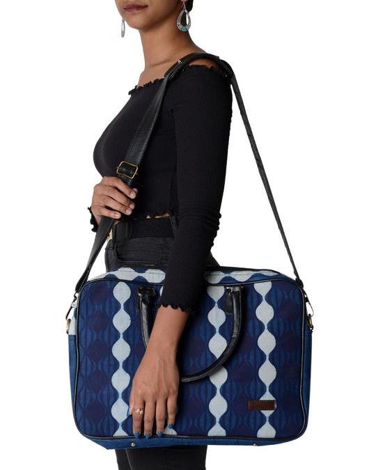 Shop Ethnic Print Indigo Blu Love Laptop Bag