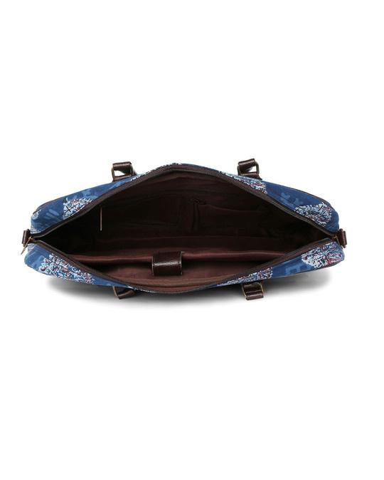 Shop Ethnic Print Indigo Laptop Bag-Full