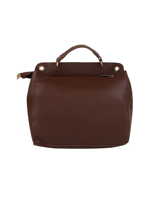 Shop Leatherette Flap Compartment Coffee Sling Bag-Full