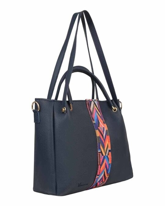 Shop Leatherette Pack Of 5 Embroidered With Tape Navy Sling Bag-Design
