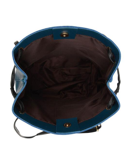 Shop Leatherette Set Of 2 Embroidered Aqua Sling Bag-Full