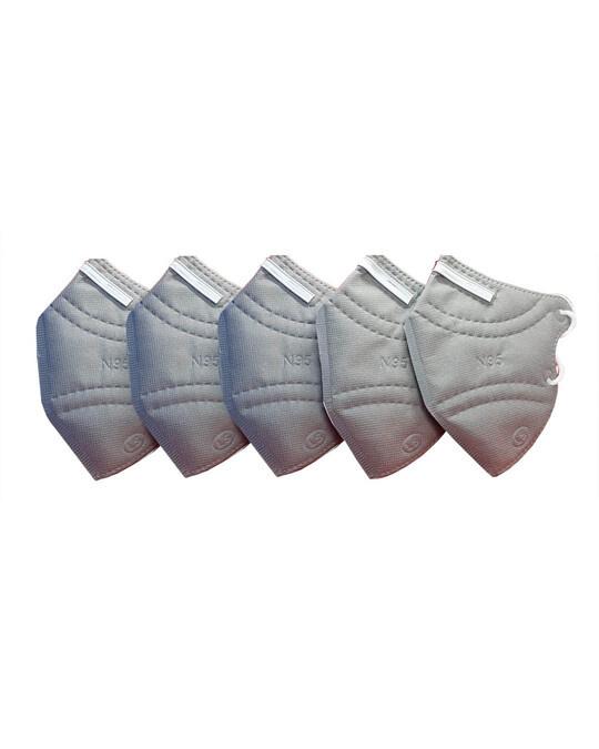 Shop Pack Of 5  N95 Grey Mask-Front