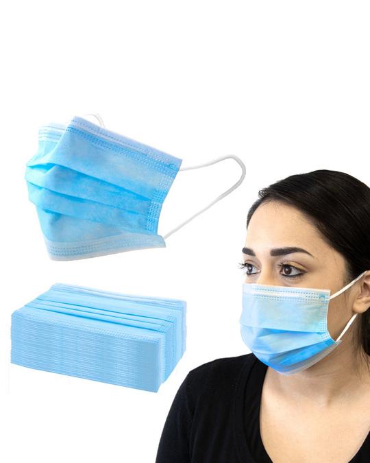 Shop Pack Of 50 3 Ply Disposable Mask With Meltblown & Inbuilt Nosepin-Back