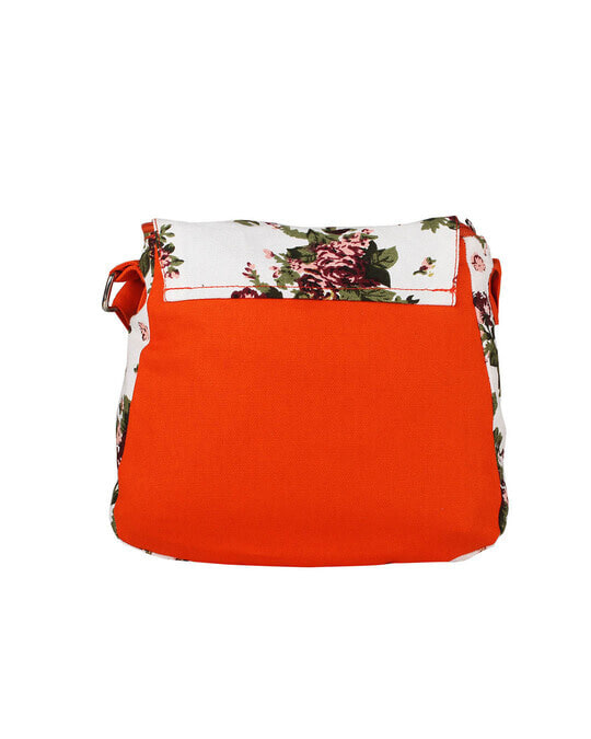 Shop White Floral Printed Cross Body-Back