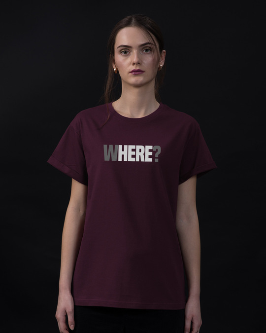 Shop W-here Boyfriend T-Shirt-Front