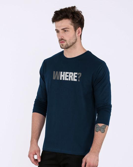 Shop W-here Full Sleeve T-Shirt-Back