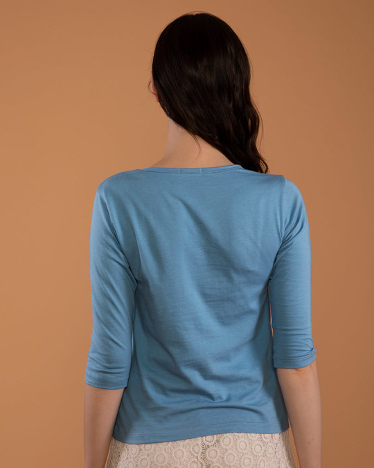 Shop Waise Rahenge Round Neck 3/4th Sleeve T-Shirt-Back