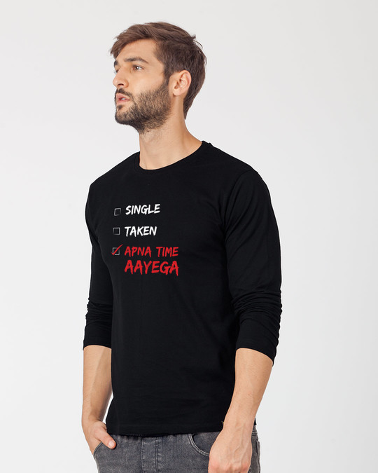Shop Wait And Watch Full Sleeve T-Shirt-Back