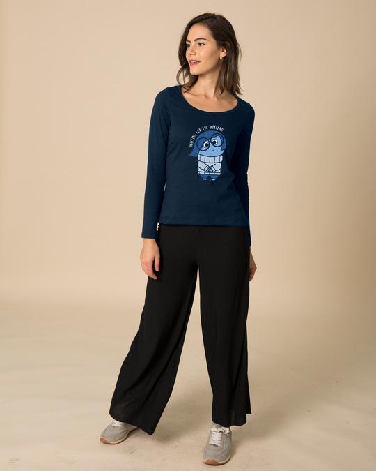 Shop Waiting Sadness Scoop Neck Full Sleeve T-Shirt (DL)-Design