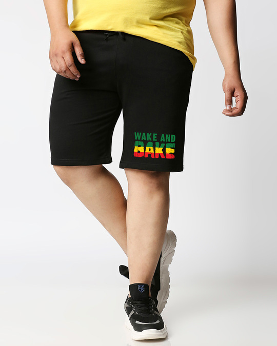 Shop Wake And Bake Plus Size Casual Shorts-Front