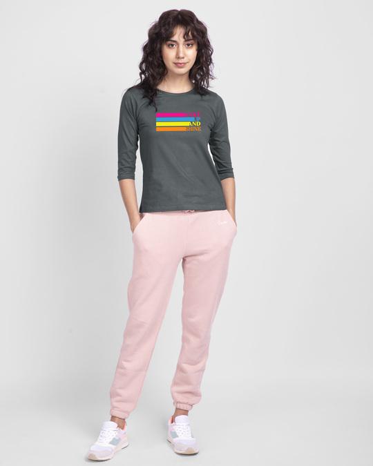Shop Wake Up And Shine 3/4th Sleeve T-Shirt-Design