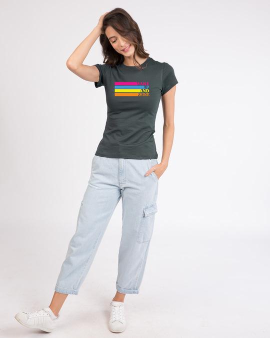 Shop Wake Up And Shine Half Sleeve T-Shirt-Design