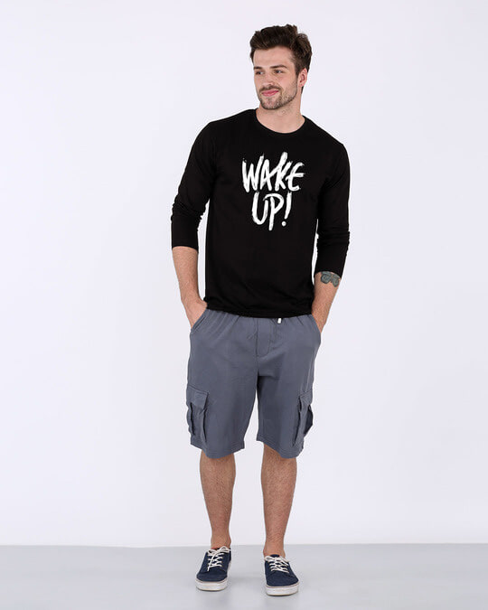Shop Wake Up Full Sleeve T-Shirt