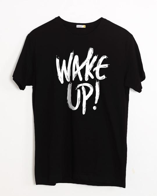 Shop Wake Up Half Sleeve T-Shirt-Front