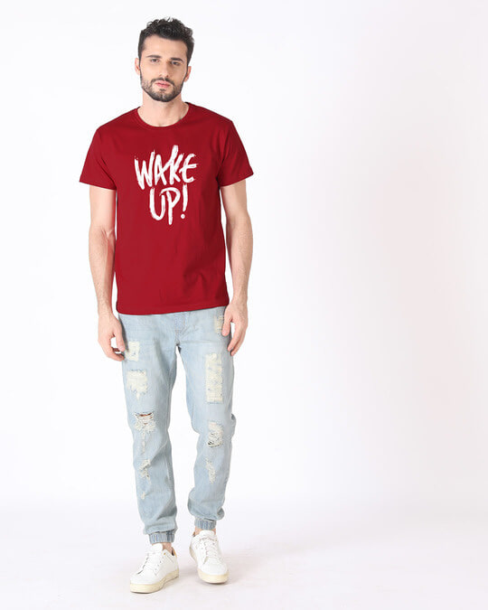 Shop Wake Up Half Sleeve T-Shirt