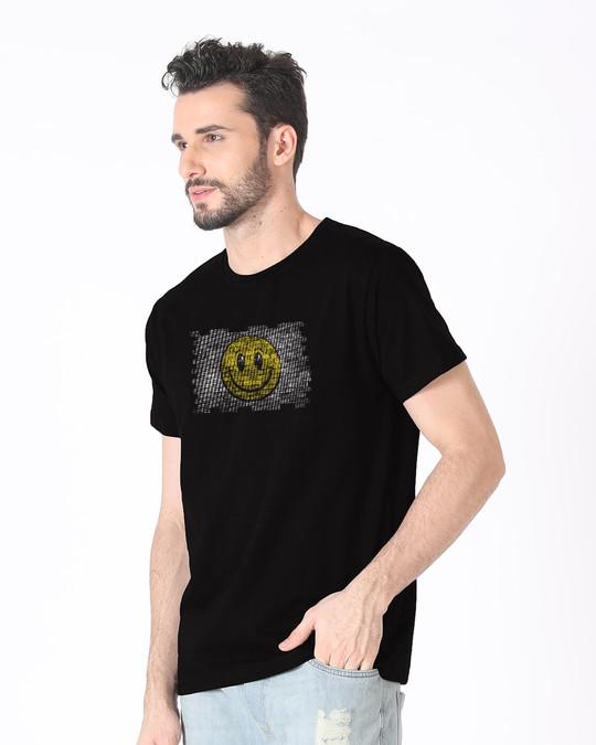 Shop Wall Smile Half Sleeve T-Shirt-Full