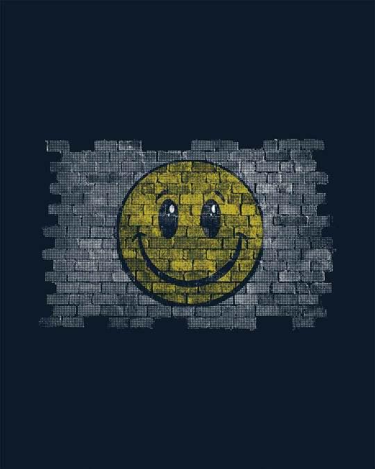 Shop Wall Smile Half Sleeve T-Shirt