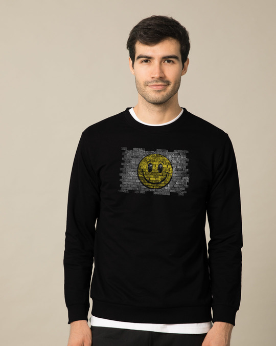 Shop Wall Smile Light Sweatshirt-Front