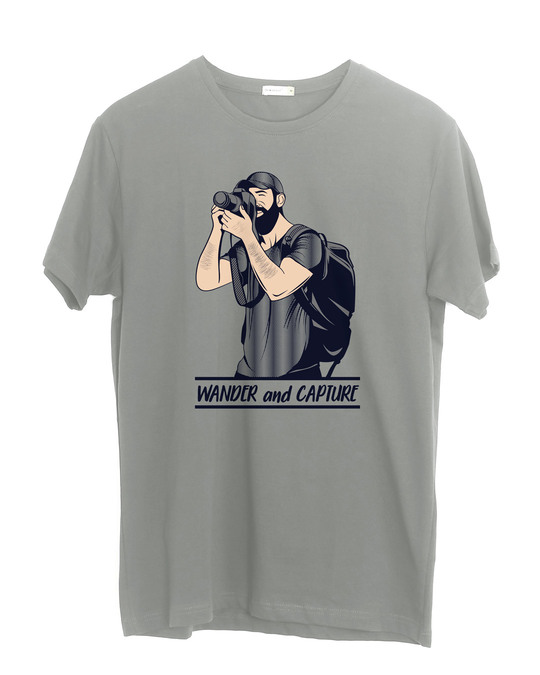 Shop Wander And Capture Half Sleeve T-Shirt-Front