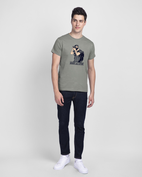 Shop Wander And Capture Half Sleeve T-Shirt-Design