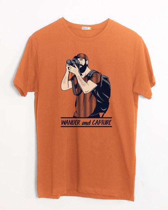 Shop Wander And Capture Half Sleeve T-Shirt-Front