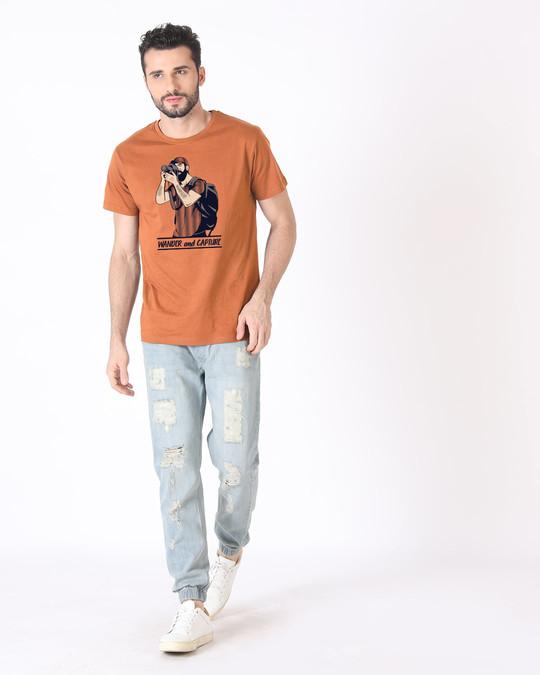 Shop Wander And Capture Half Sleeve T-Shirt