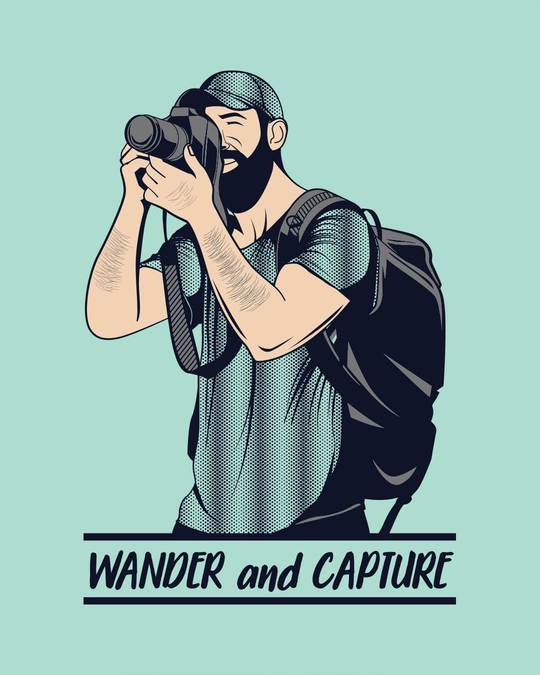 Shop Wander And Capture Half Sleeve T-Shirt