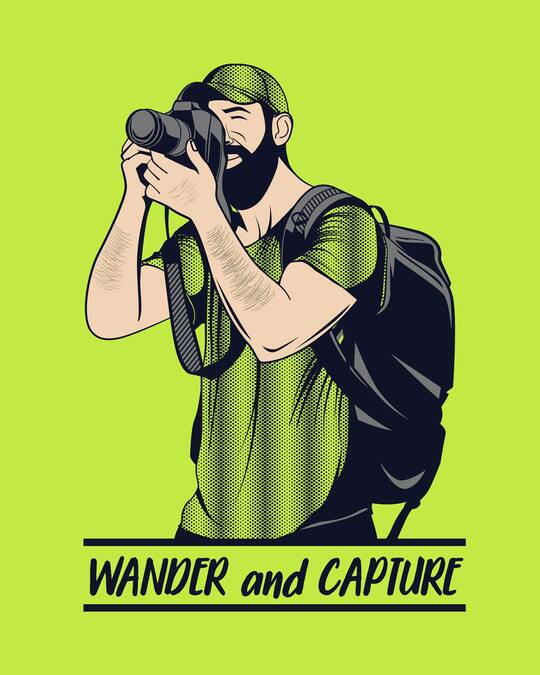 Shop Wander And Capture Half Sleeve T-Shirt-Full
