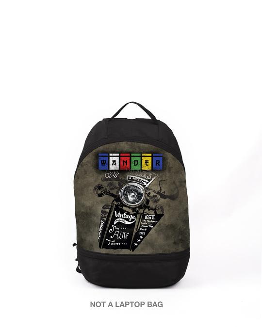 Shop Wander Biker Printed Small Backpack-Front