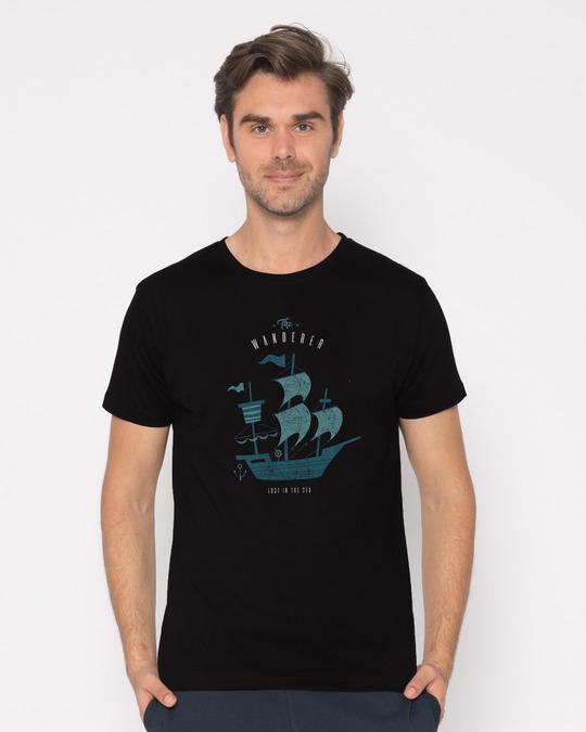 Shop Wanderer Half Sleeve T-Shirt-Back