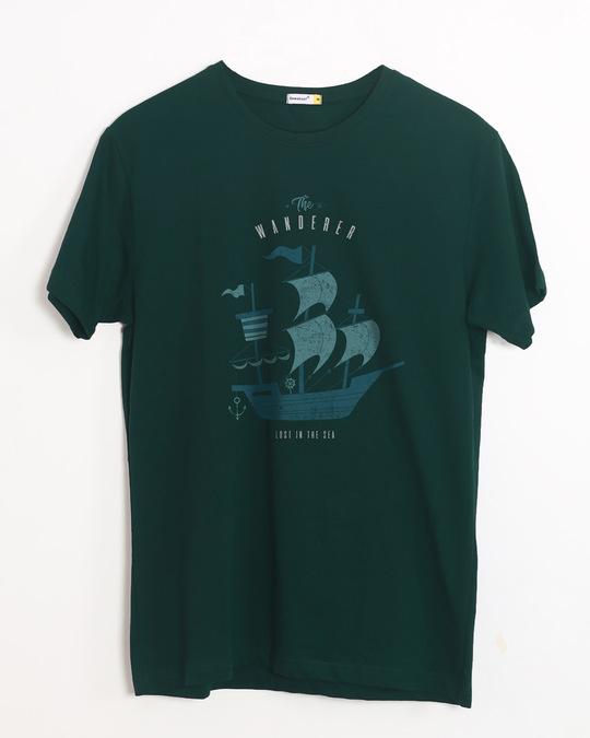 Shop Wanderer Half Sleeve T-Shirt-Front