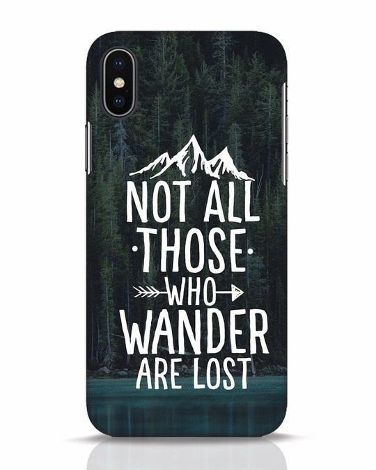 Shop Wanderer iPhone X Mobile Cover-Front