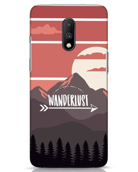 Shop Wanderlust Mountains OnePlus 7 Mobile Cover-Front