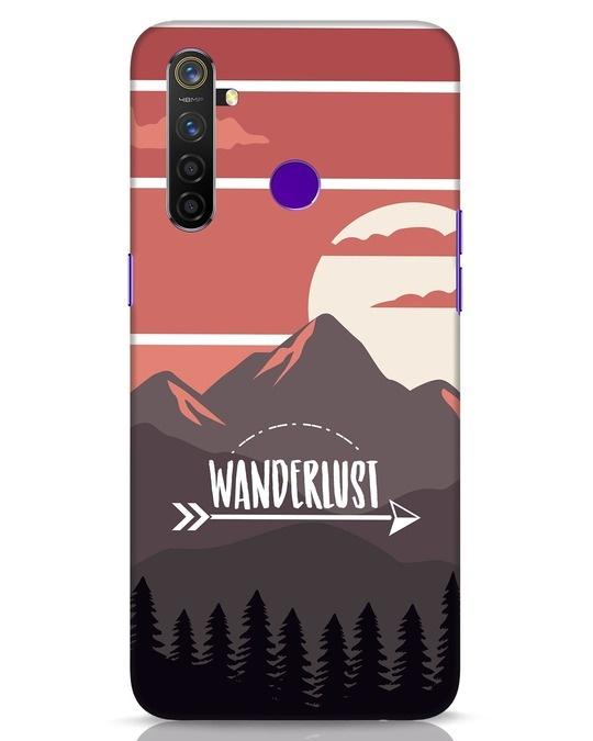 Shop Wanderlust Mountains Realme 5 Pro Mobile Cover-Front