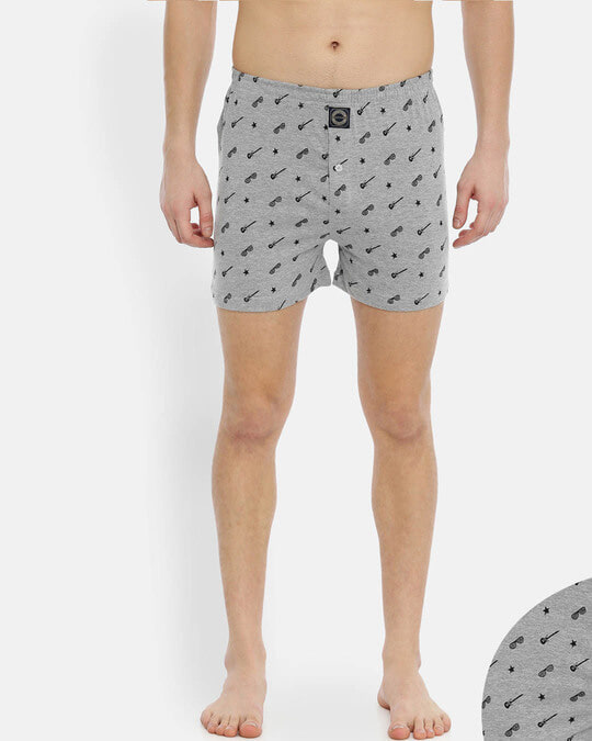 Shop Joven | Wannabe Rockstar Grey Knitted Boxers-Back