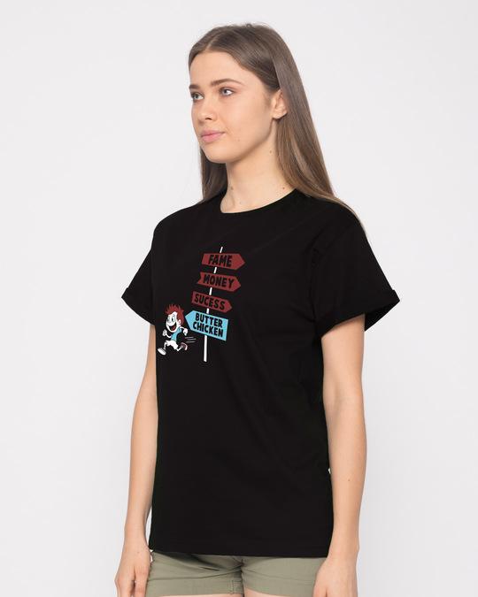 Shop Want Butter Chicken Boyfriend T-Shirt-Back