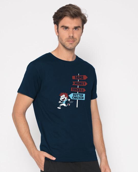 Shop Want Butter Chicken Half Sleeve T-Shirt-Design