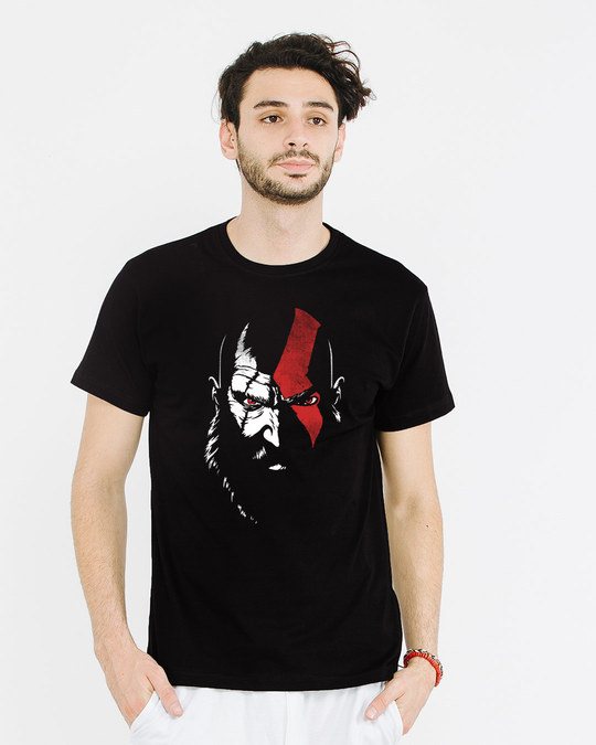 Shop War God Half Sleeve T-Shirt-Back