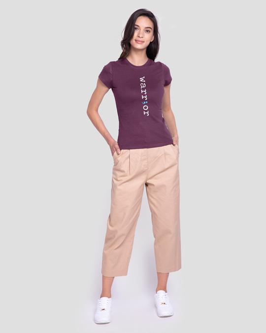Shop Warrior Across Half Sleeve T-Shirt-Design