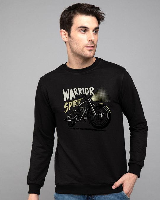 Shop Warrior Biker Fleece Light Sweatshirts-Front