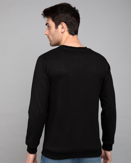 Shop Warrior Biker Fleece Light Sweatshirts-Back