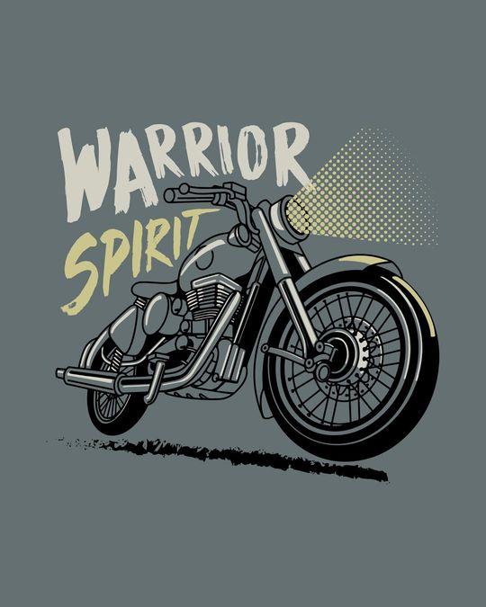 Shop Warrior Biker Half Sleeve T-Shirt-Full