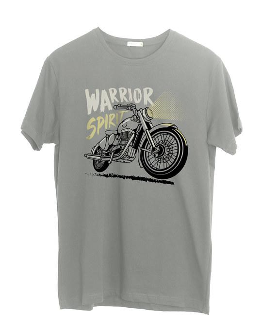 Shop Warrior Biker Half Sleeve T-Shirt-Front