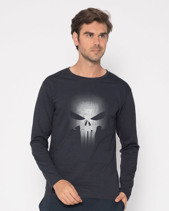 Shop Warrior Punisher Full Sleeve T-Shirt-Front