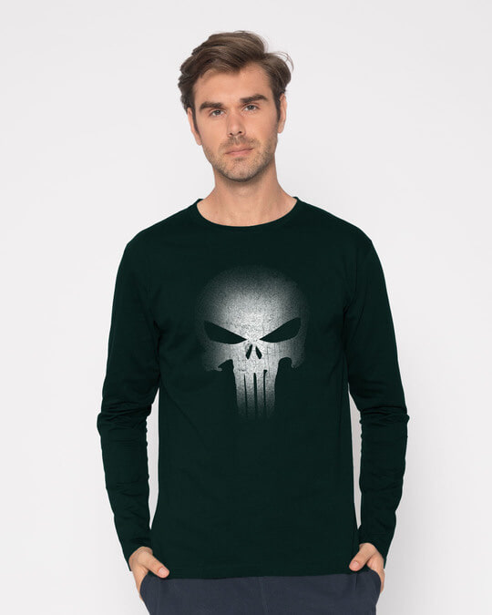 Shop Warrior Punisher Full Sleeve T-Shirt-Front