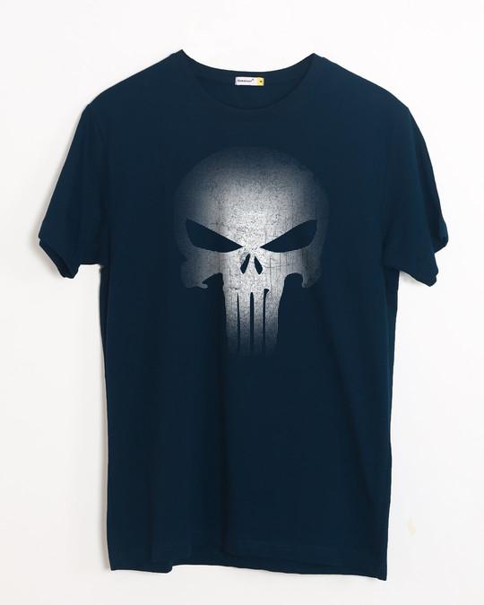 Shop Warrior Punisher Half Sleeve T-Shirt-Front