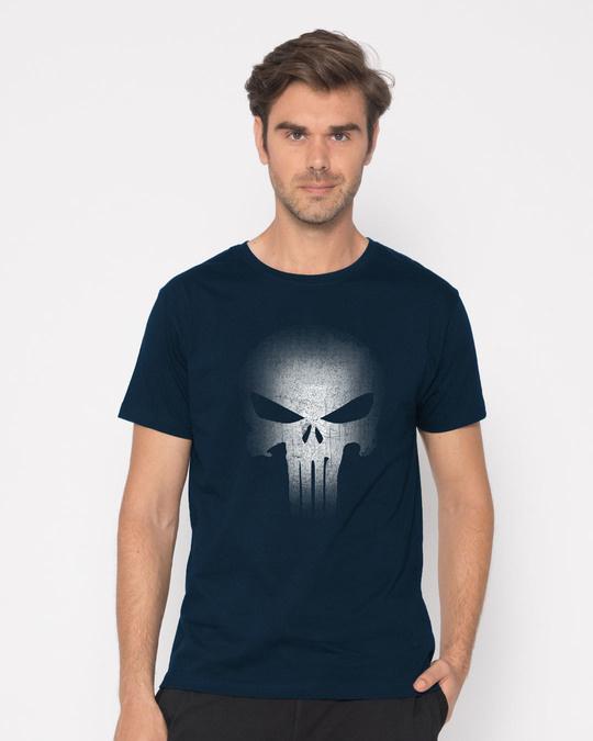 Shop Warrior Punisher Half Sleeve T-Shirt-Back