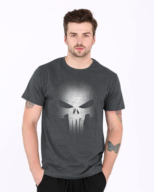 Shop Warrior Punisher Half Sleeve T-Shirt-Front