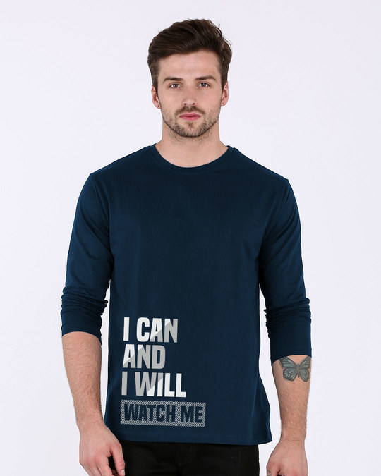 Shop Watch Me Full Sleeve T-Shirt-Front